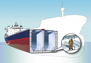 Representation of a double hull tanker Credit : Desgagnés