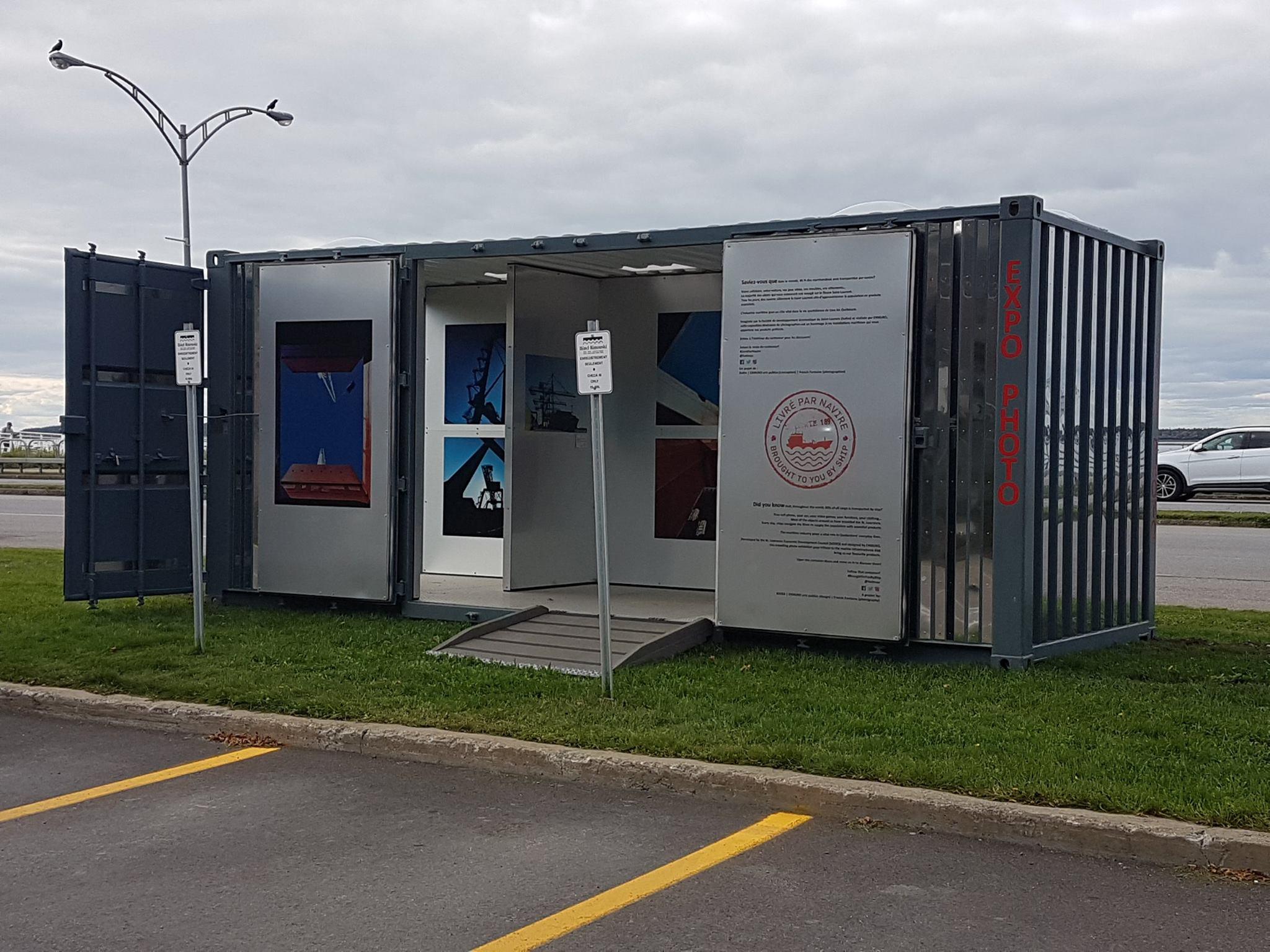 Le conteneur transform en galerie d 39 art arrive rimouski for Conteneur economique